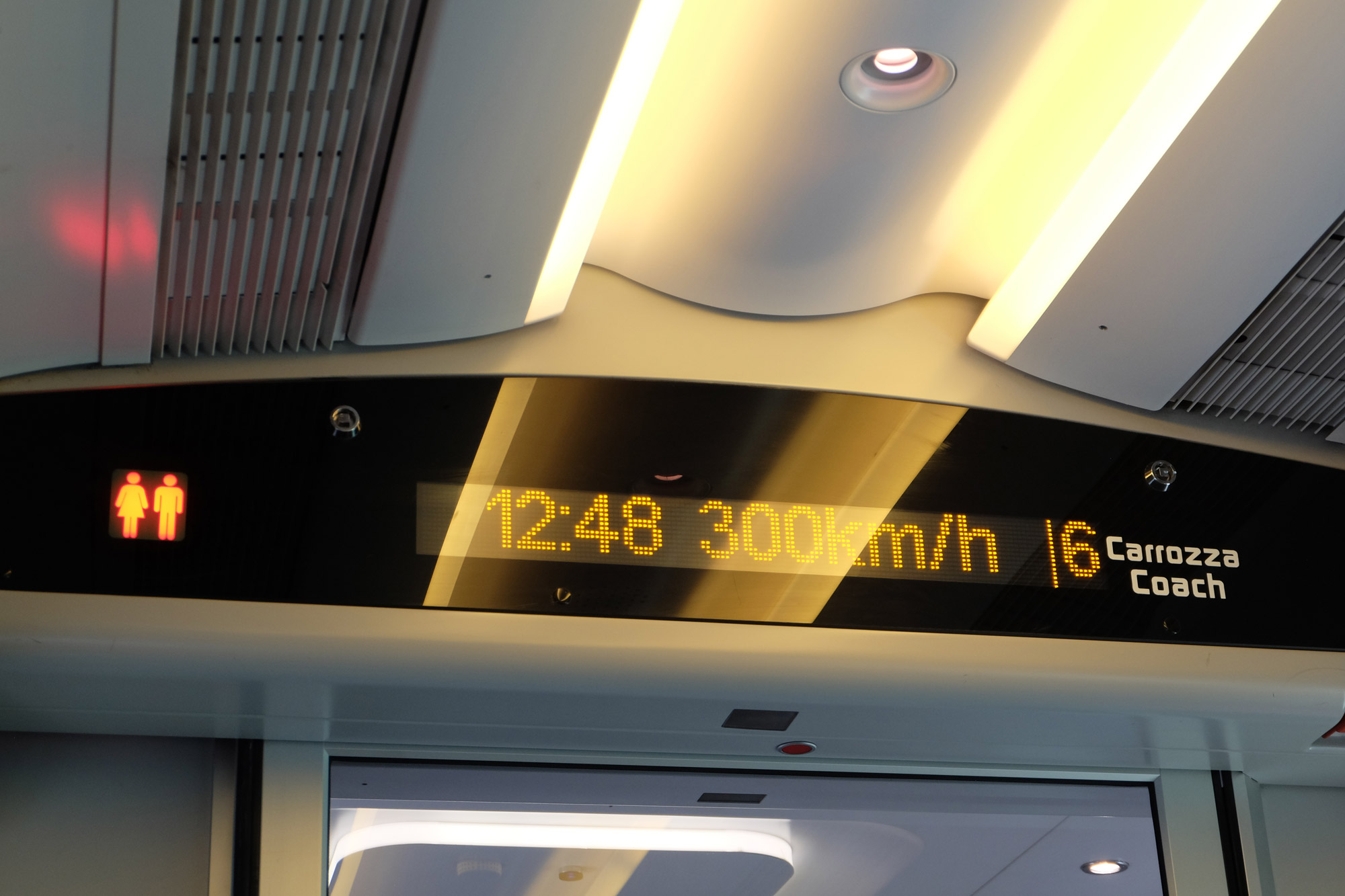 300km/h on the Ferrari train!