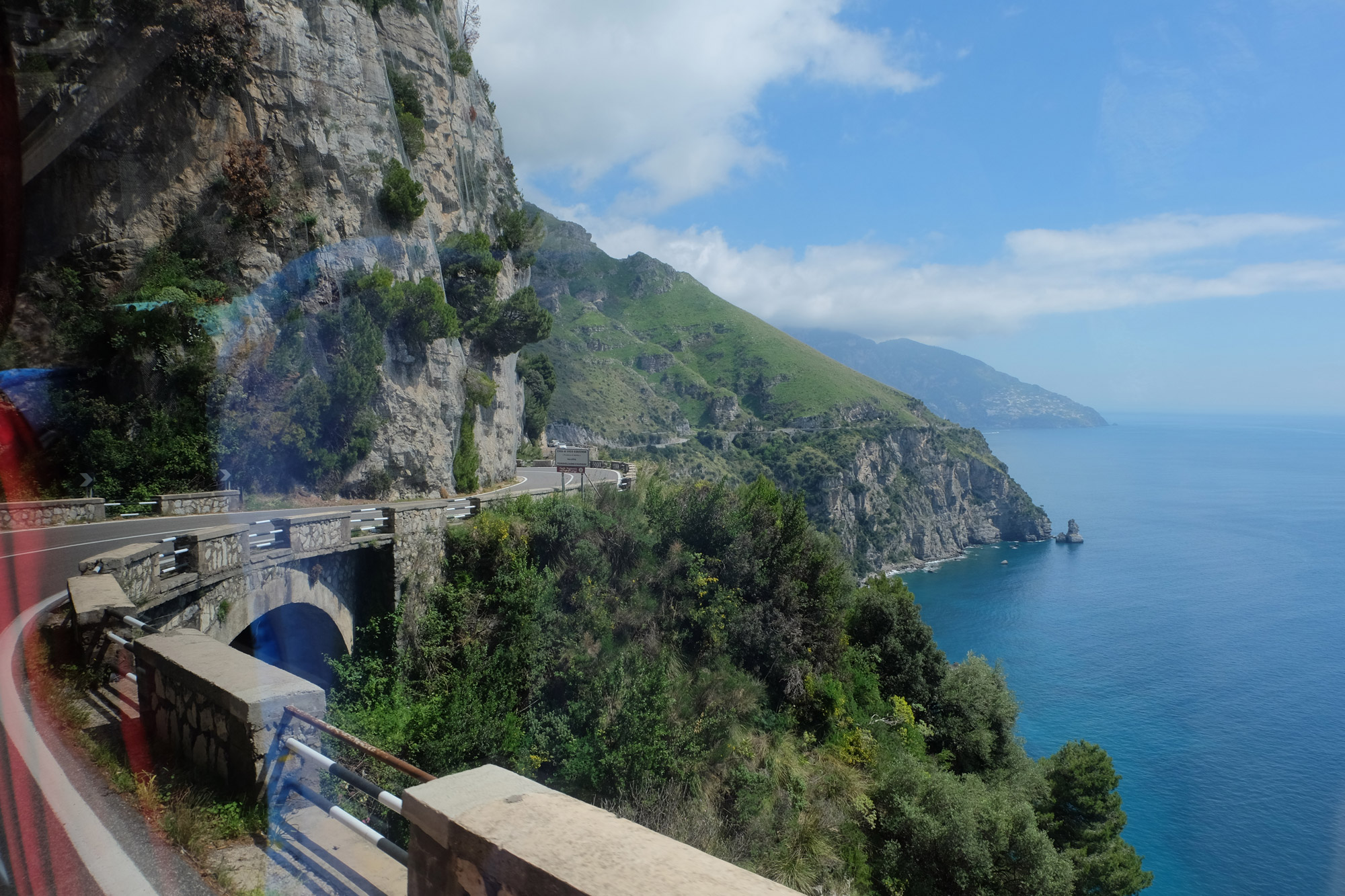 The Amalfi coast road from the Hop On Hop Off bus