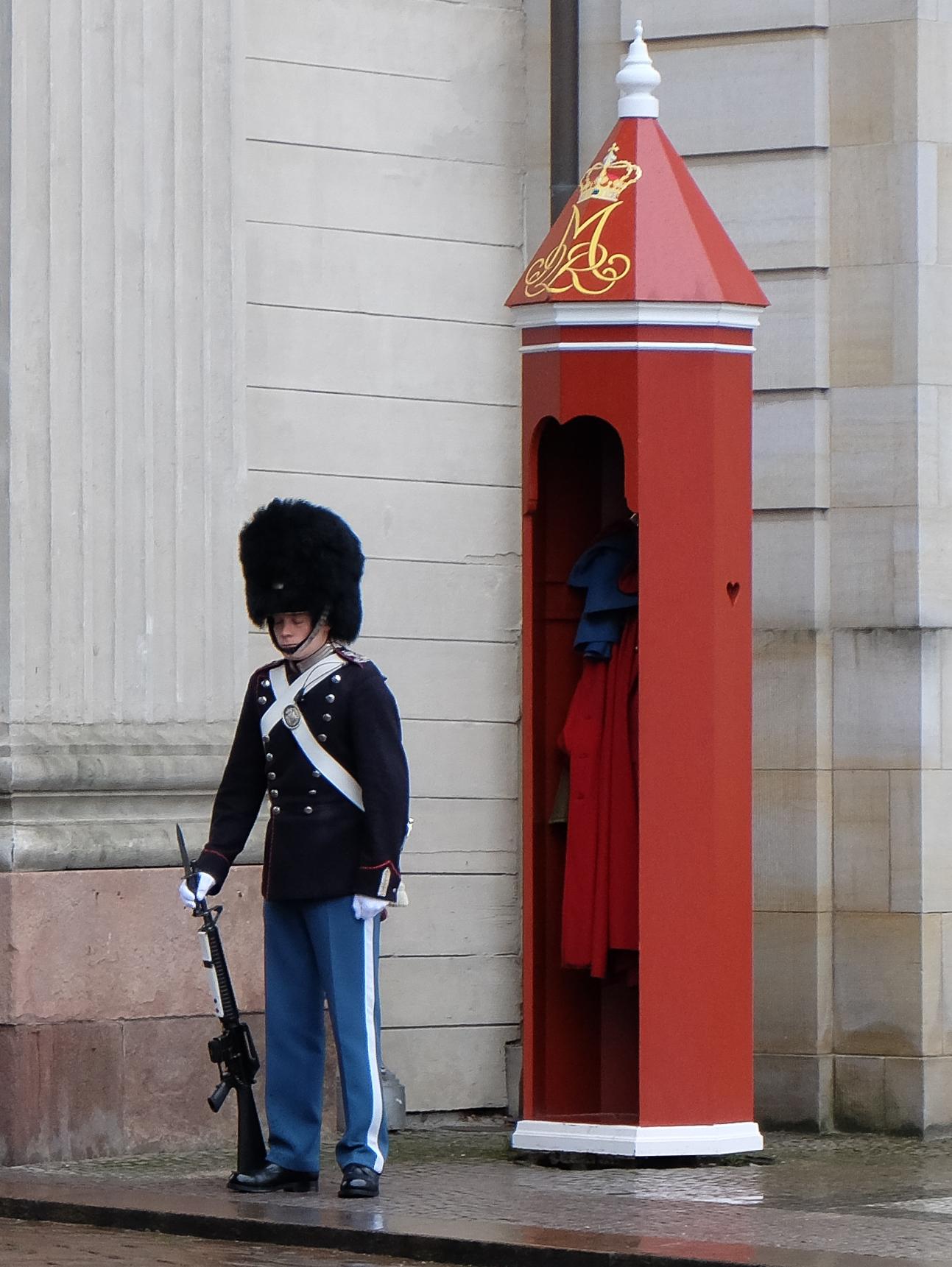 A guard at the Amalianborg Palace