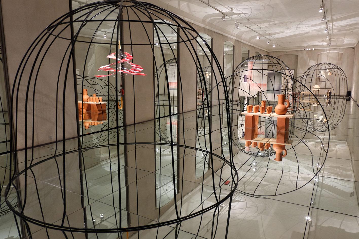Mirrored floors at the Danish Design Museum