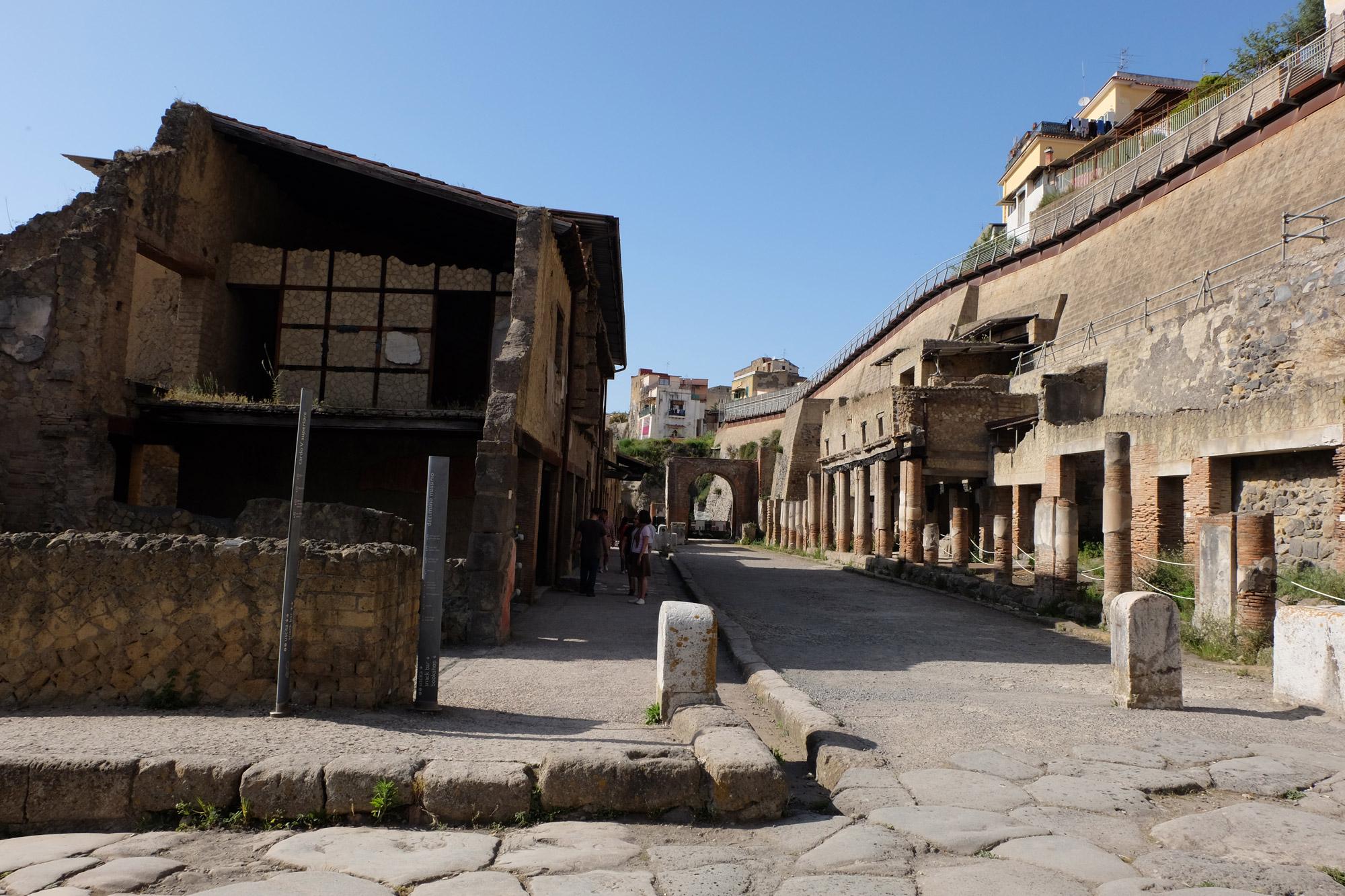 A street in Herculaneum
