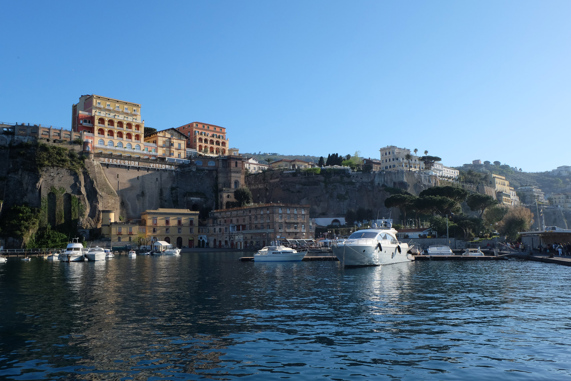 The harbour in Sorrento looking pretty in the late afternoon sun