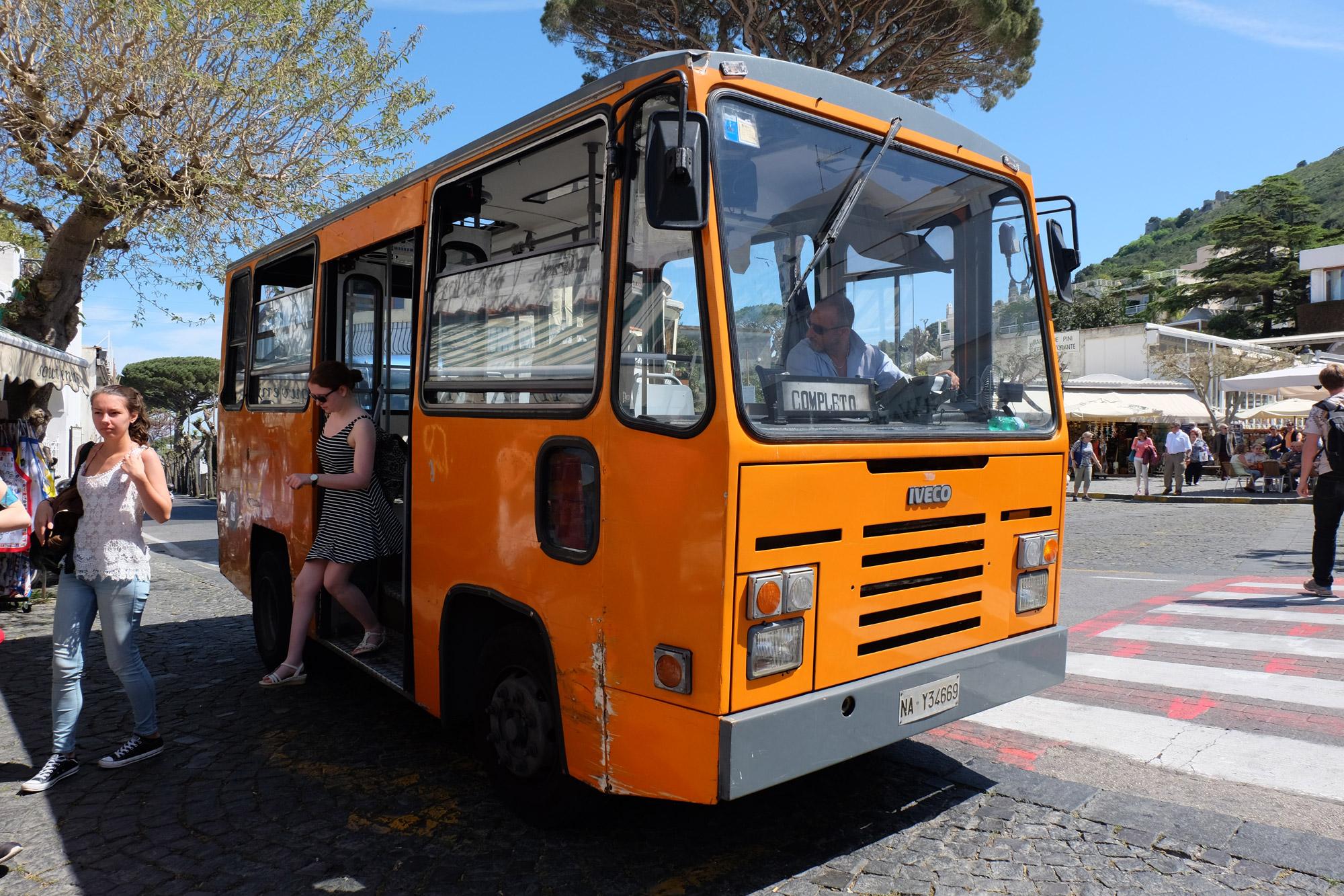 The tiny, terrifying bus to Anacapri