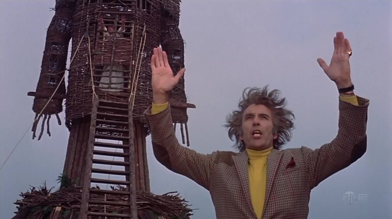 Christopher Lee and Edward Woodward in The Wicker Man