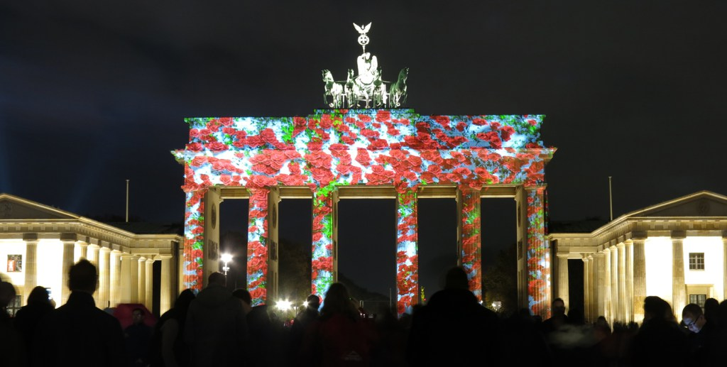 The Brandenburg Gate during Berlin's light festival