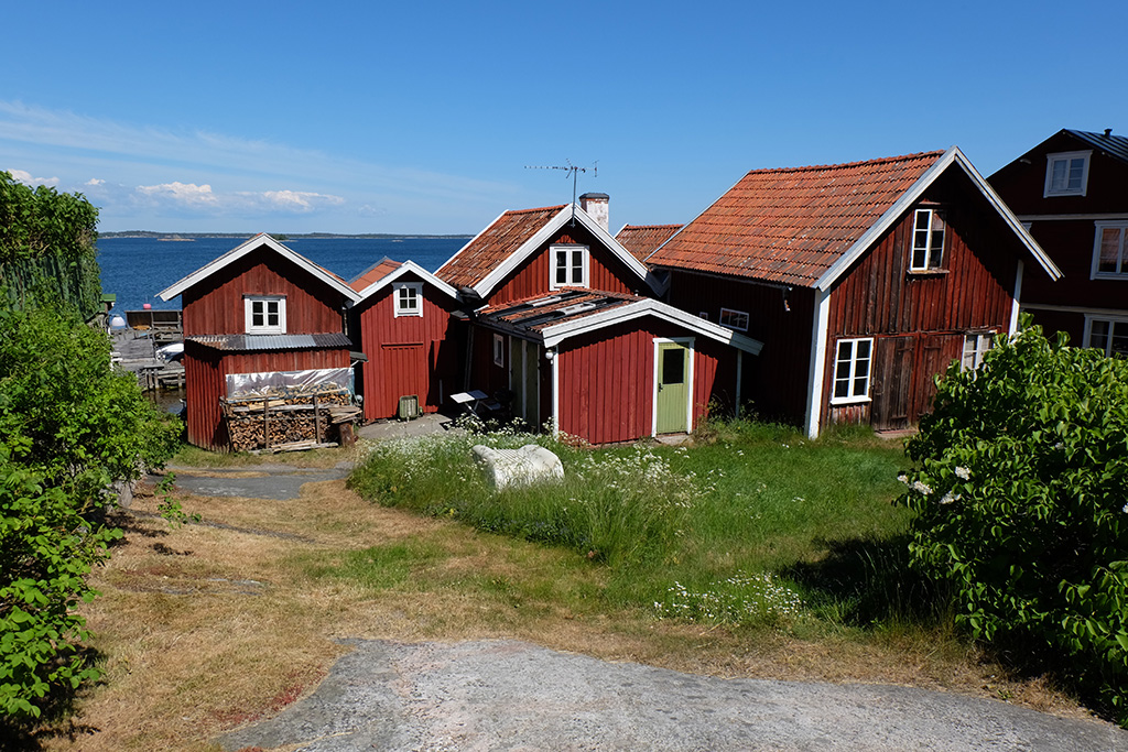 Gorgeous traditional red houses on Sandhamn