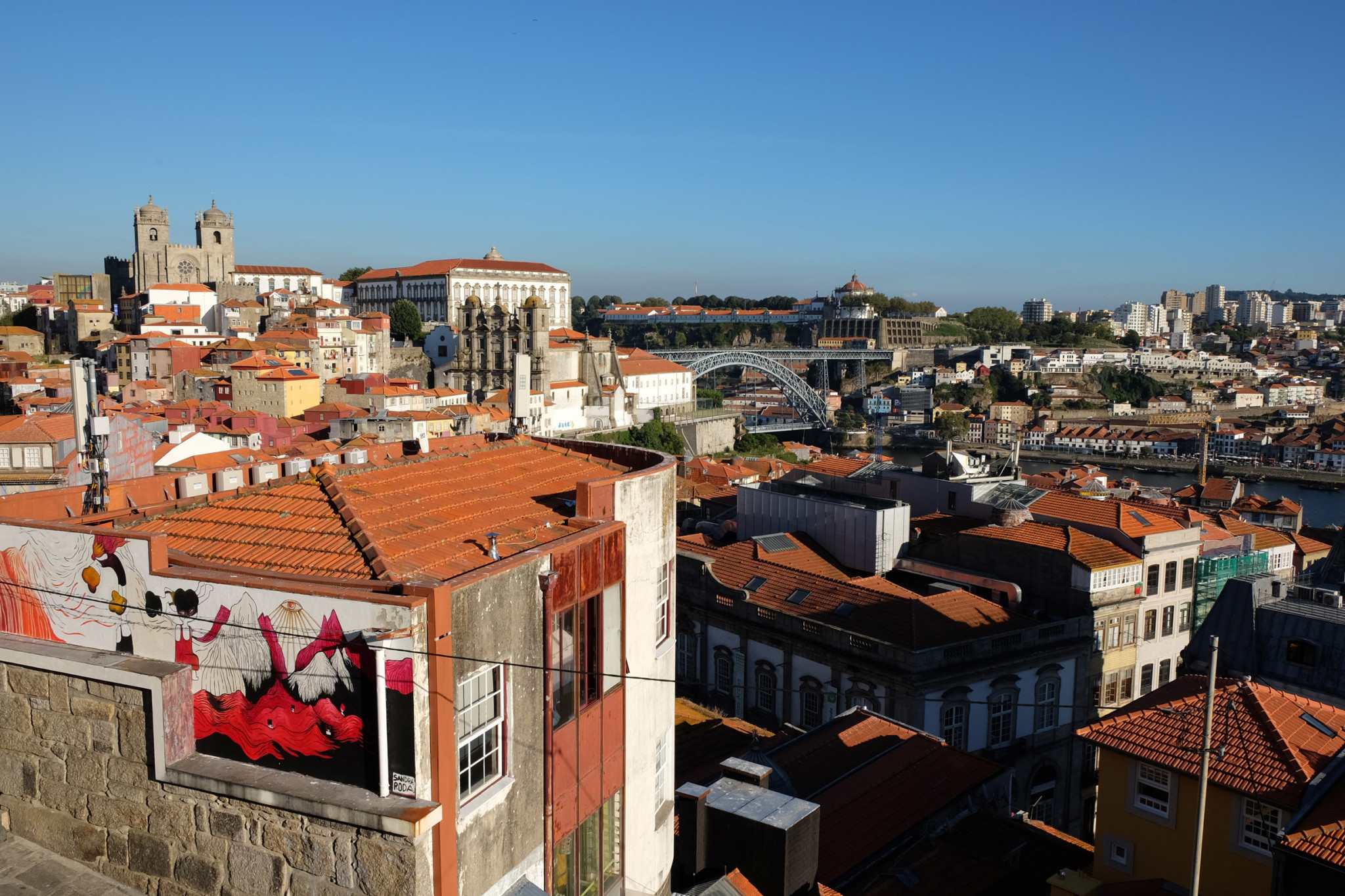 The lovely view from the Miradouro da Vitoria