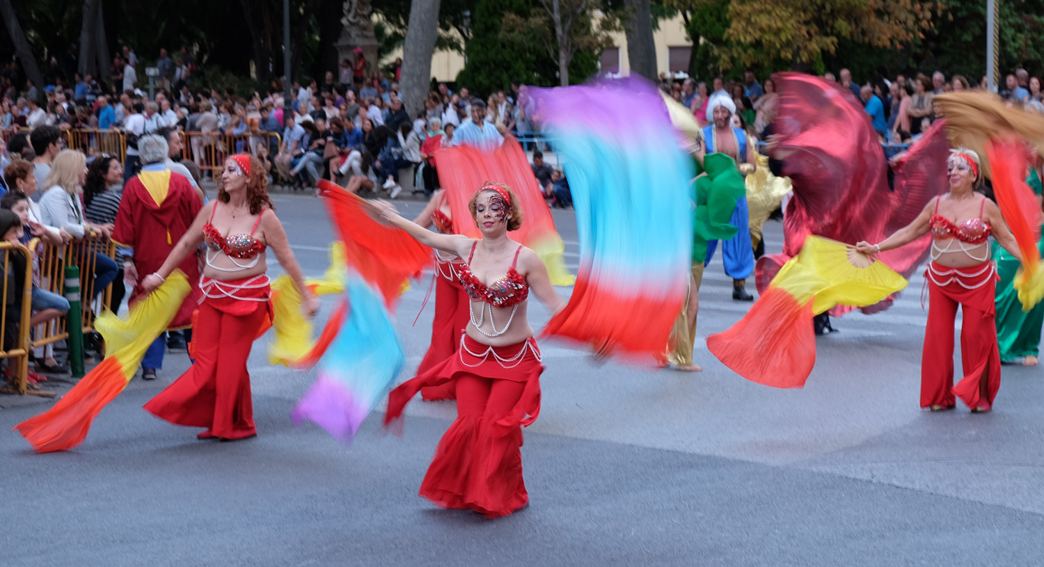 Belly dancers during the evening parade
