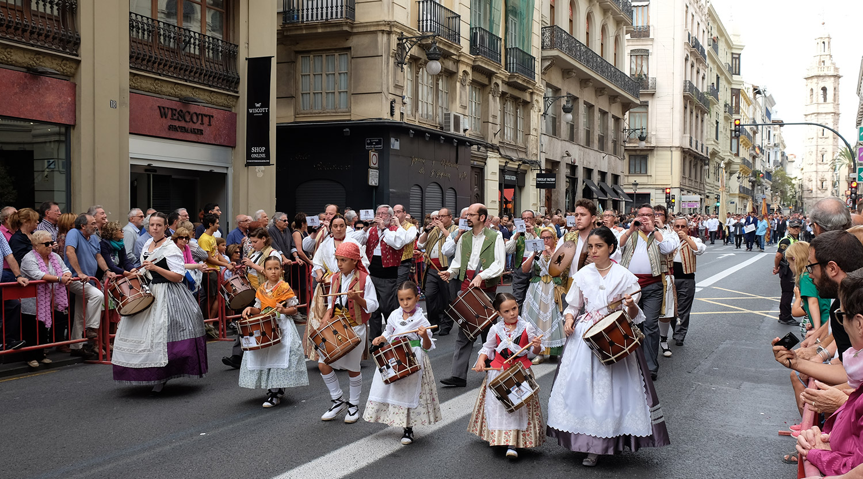 The morning parade on 9 October - Día de la Comunidad Valenciana