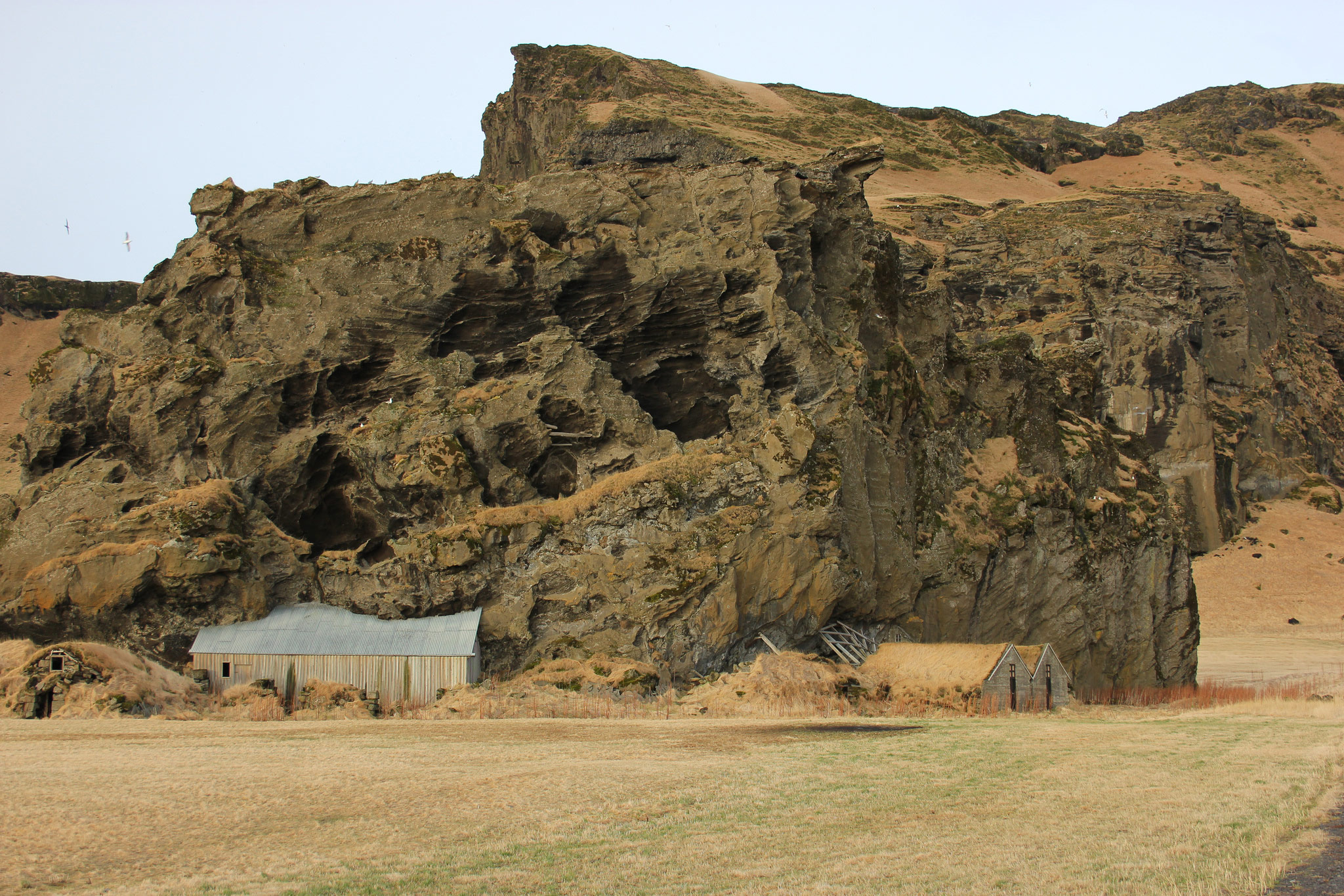 A fairy castle. Many Icelanders believe that Huldufólk or hidden people (elves) live in rocks and cliffs like these