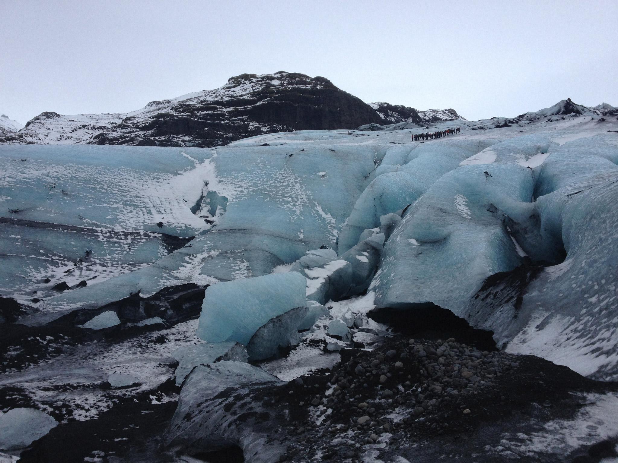 Walking on the Sólheimajökull glacier
