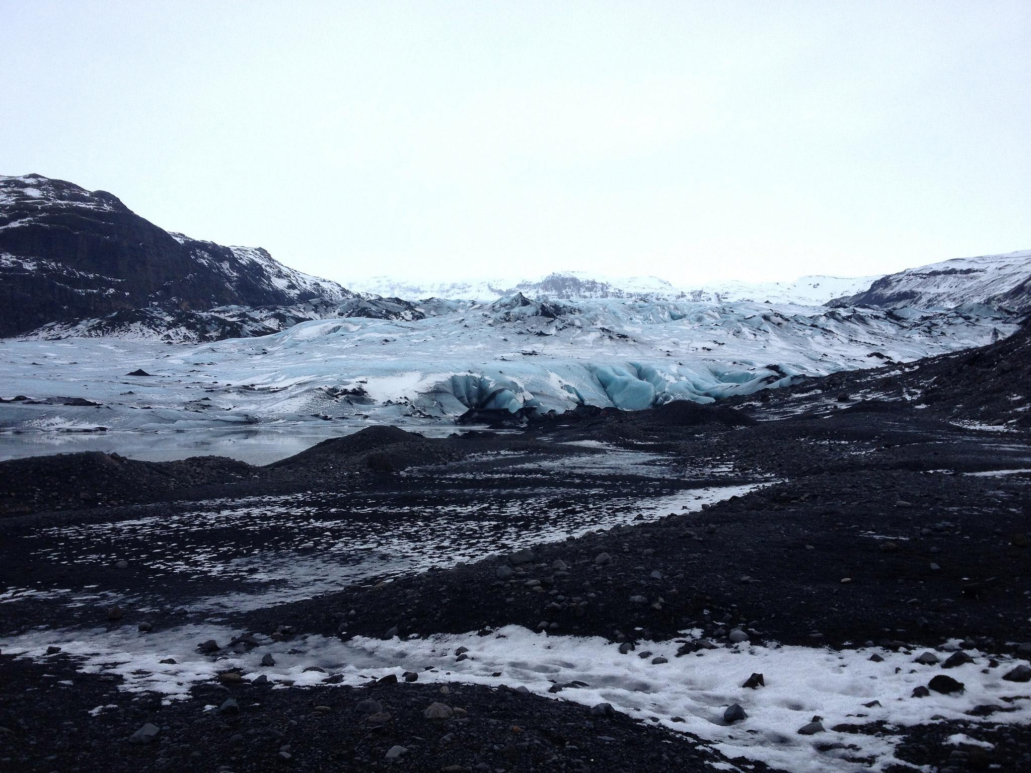 The Sólheimajökull glacier
