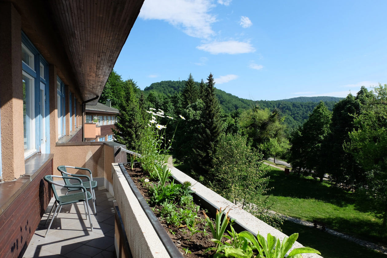 Our balcony at the Hotel Plitvice