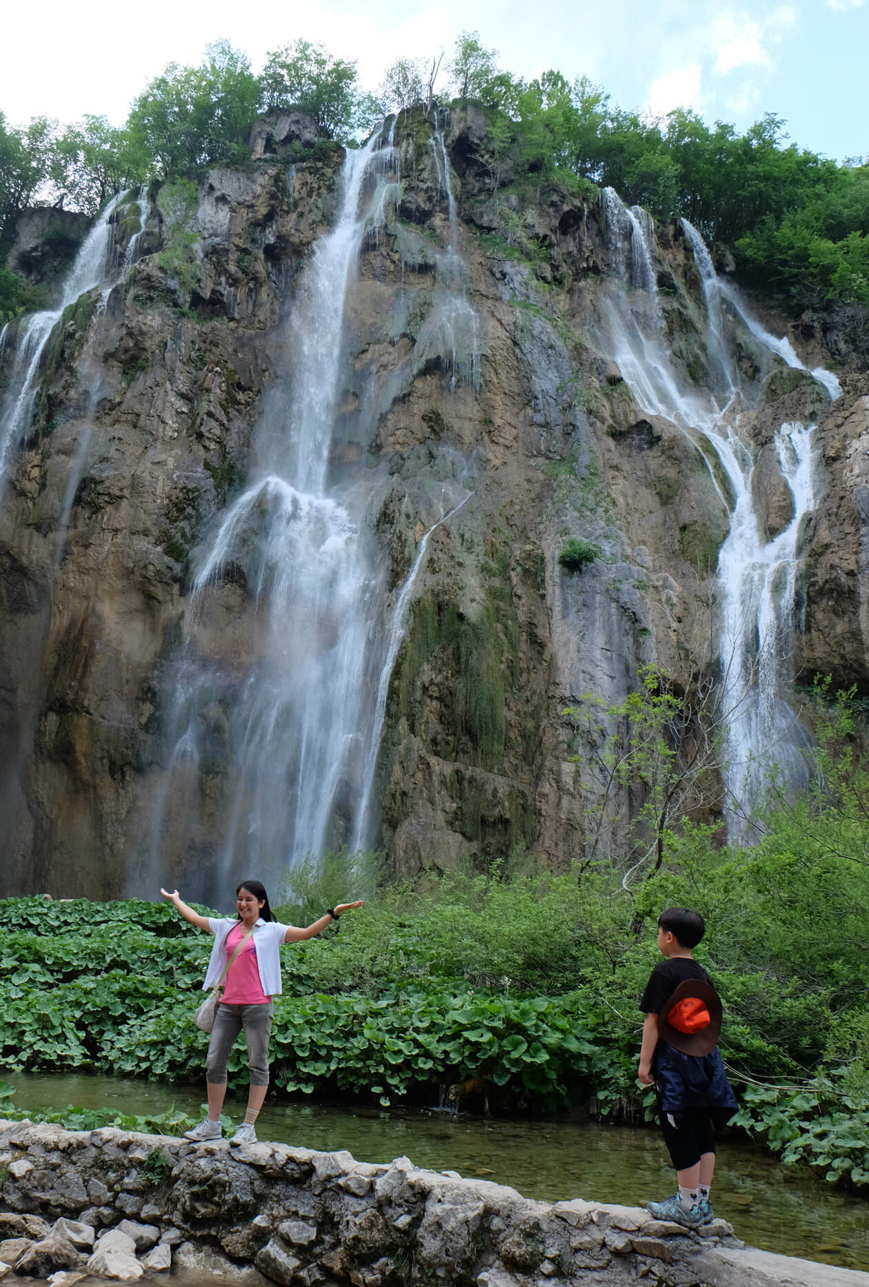 The Big Waterfall at the Plitvice Lakes