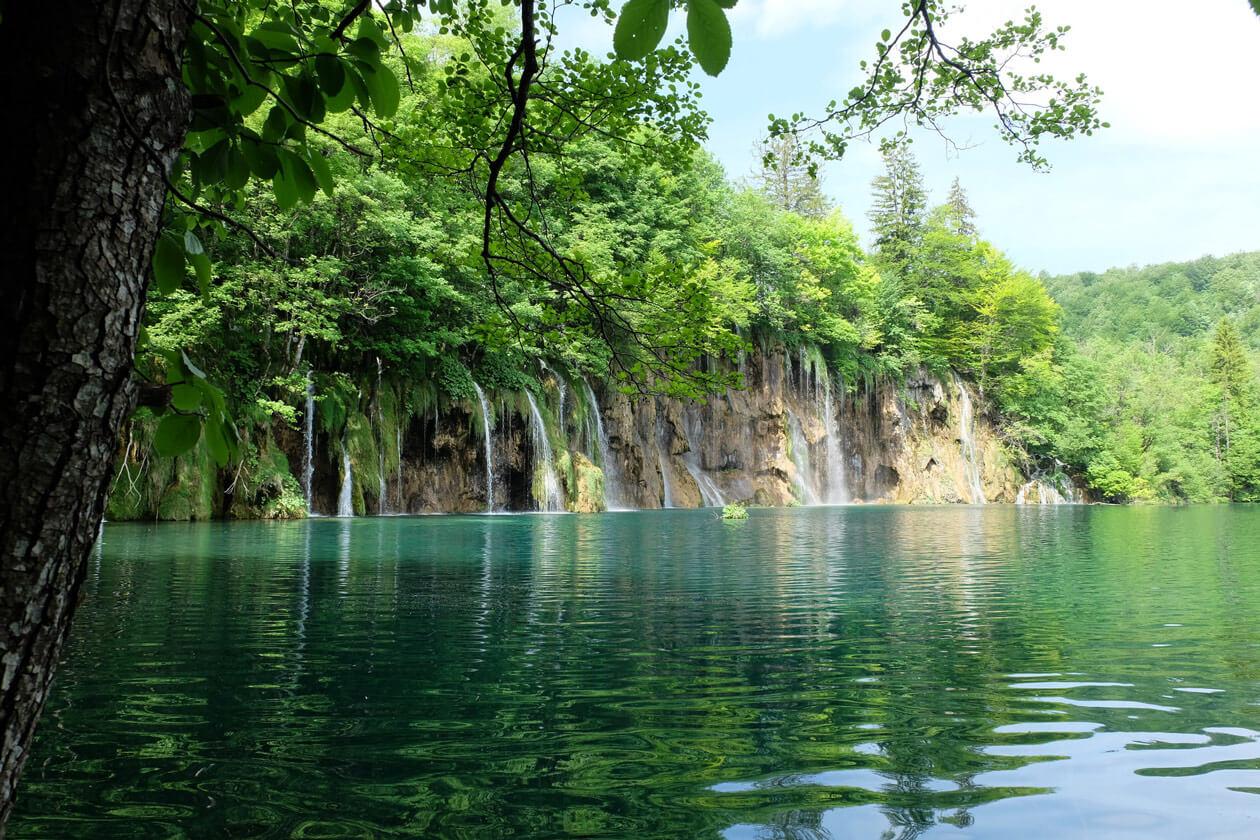 The incredible waterfalls at the Plitvice Lakes, Croatia