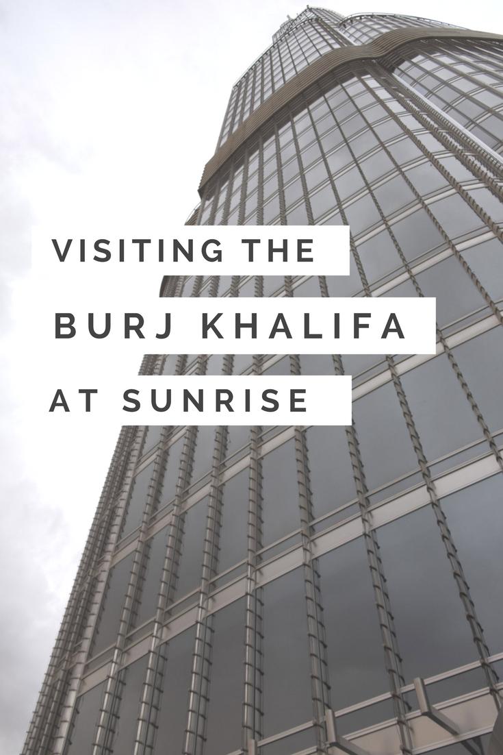 Visiting the Burj Khalifa at sunrise