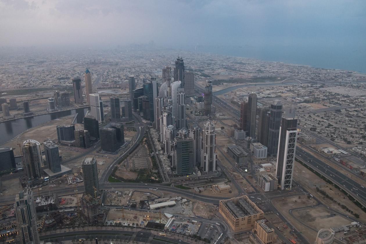 Looking towards the Burj Al Arab and Dubai Marina