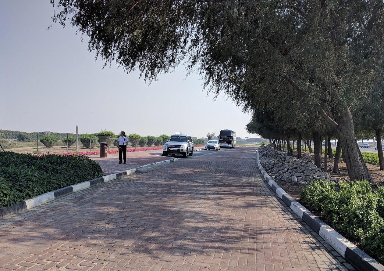 The small car park next to Flamingo Hide 2 at Ras Al Khor nature reserve