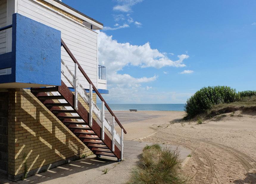 Beach huts on Sandbanks