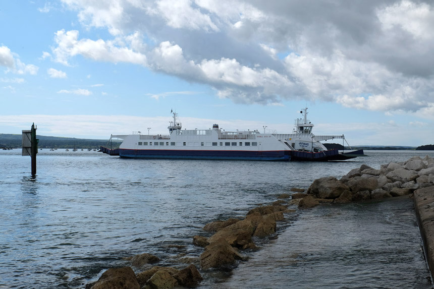 The chain ferry from Studland to Sandbanks