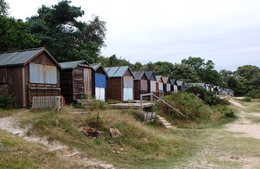 Beach huts at Studland