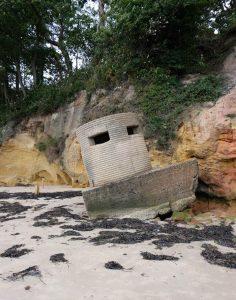A pillbox on the beach at Studland