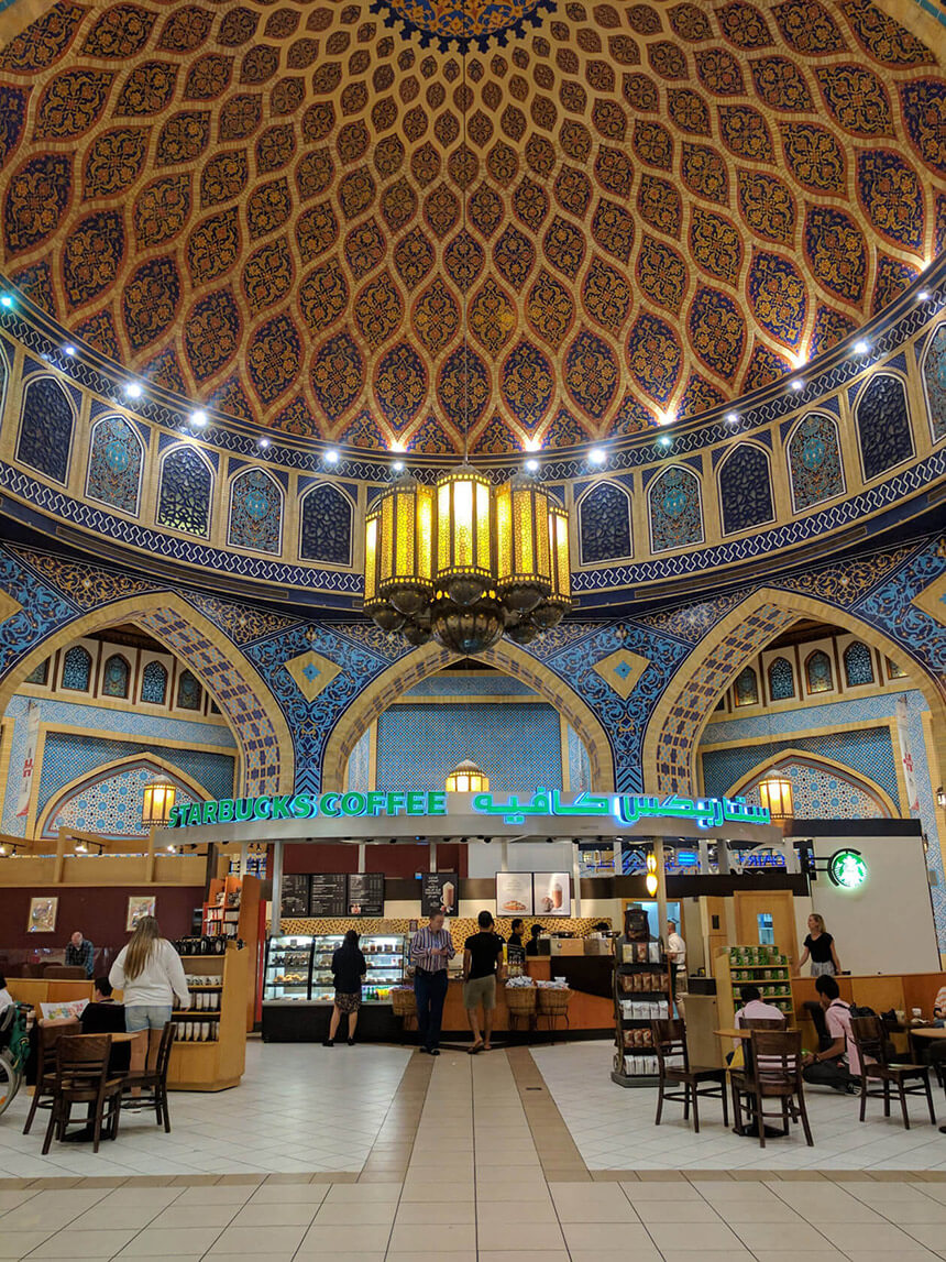 The fanciest Starbucks ever at Ibn Battuta Mall