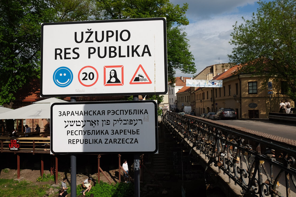 The sign showing that you're entering the Republic of Uzupis