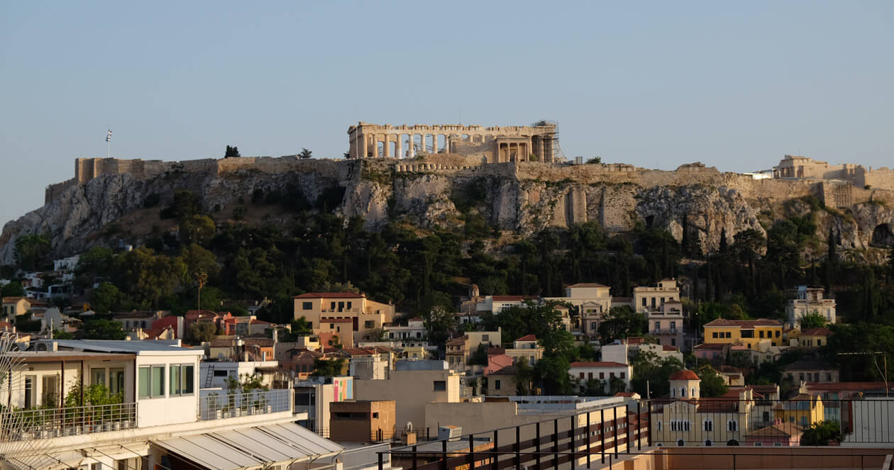 The Acropolis from the roof of our hotel