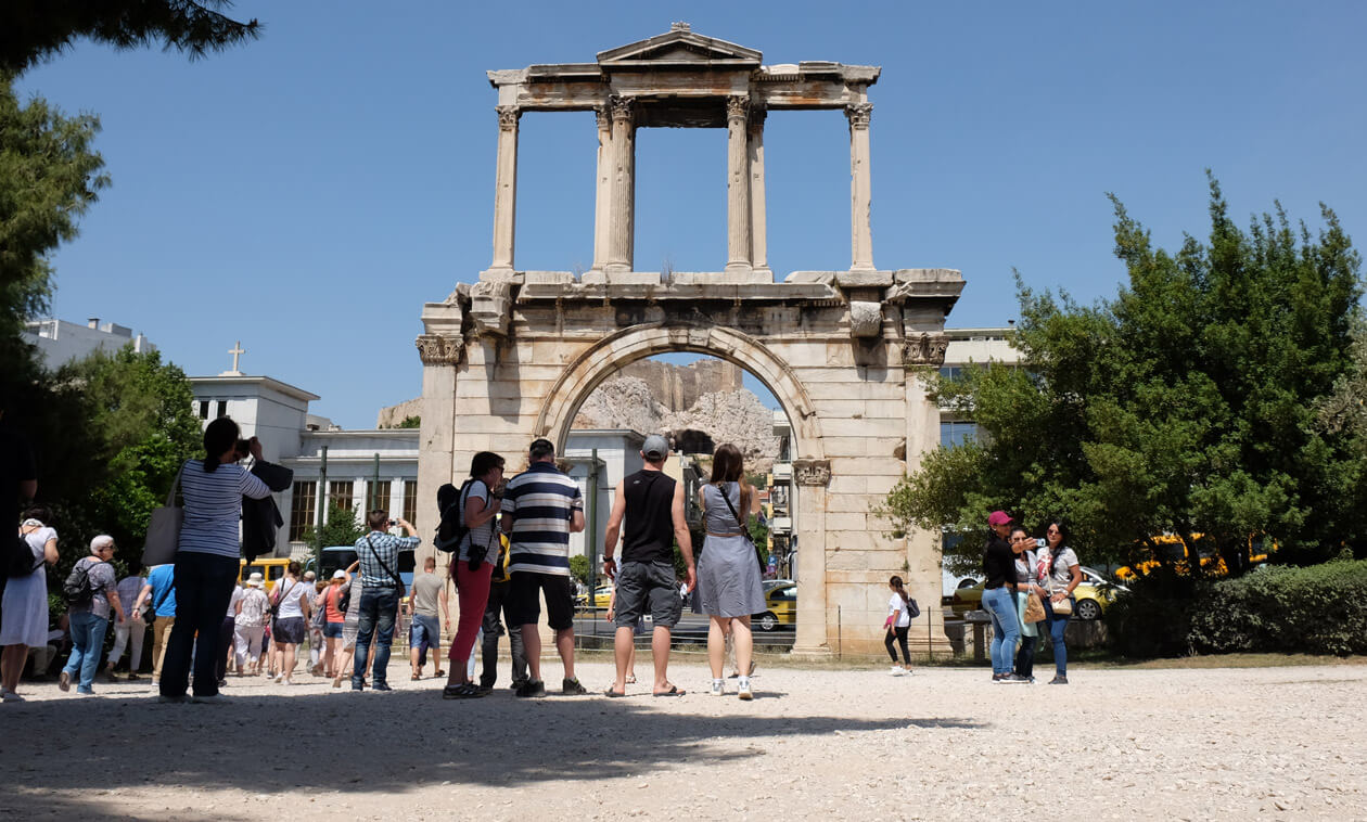 Hadrian's Gate is open 24/7 with no entrance charge