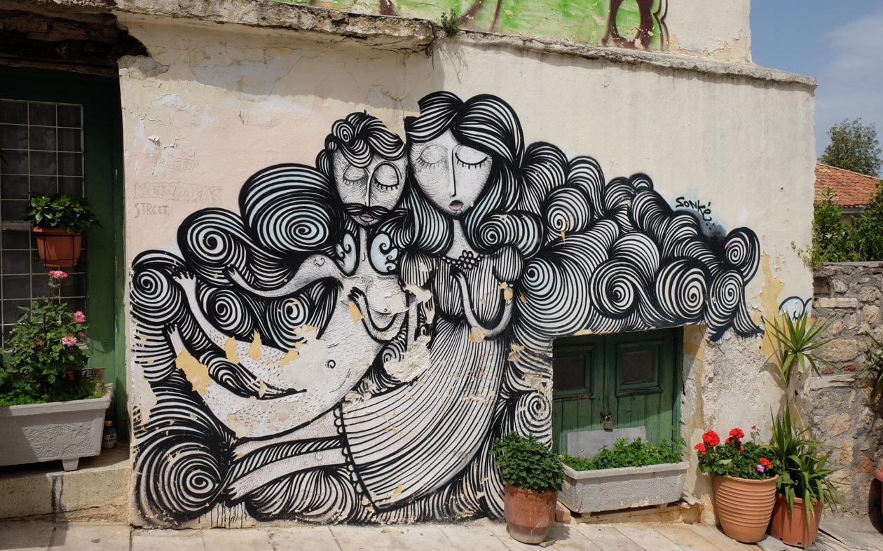 Street art in Plaka