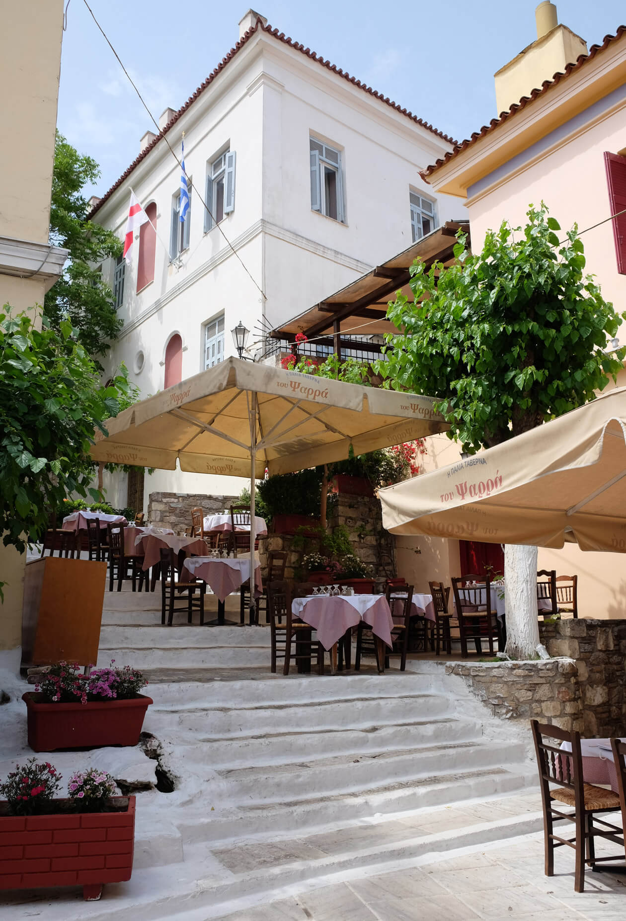 Stairs in the Plaka district