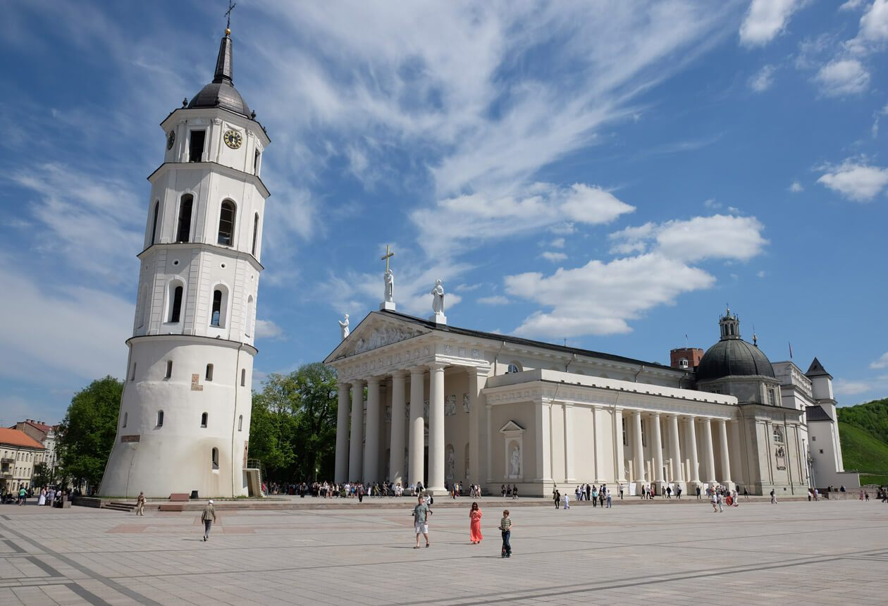 Cathedral Square in Vilnius, Lithuania