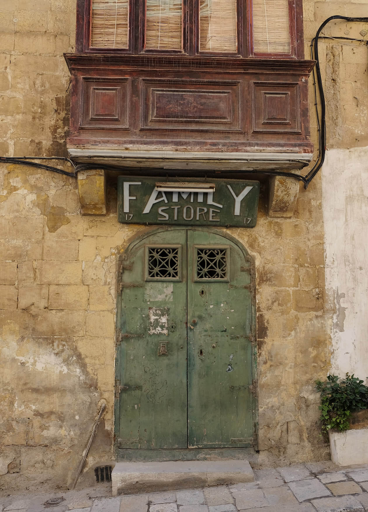 One of the interesting old shop signs in Valletta