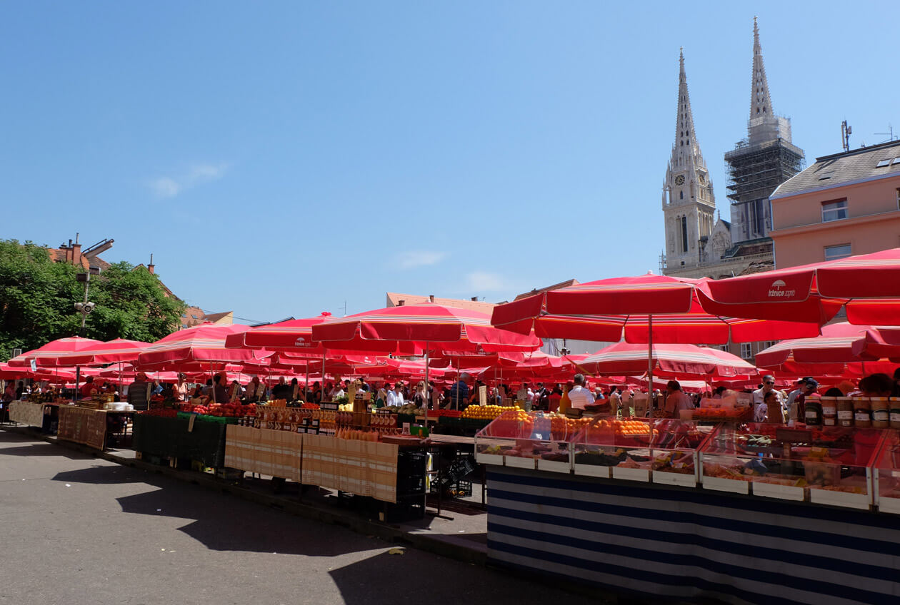 Everything looked delicious in the Dolac Market