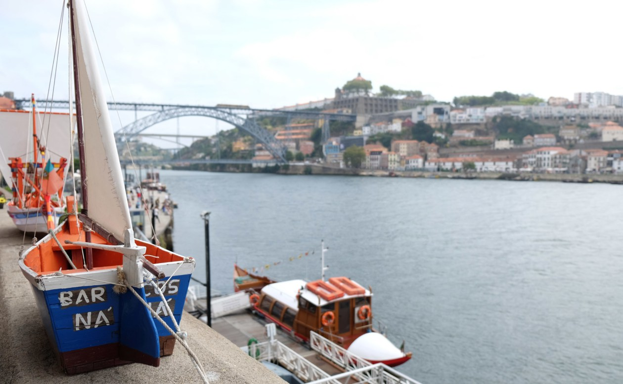 Looking across the Douro river in Porto, Portugal