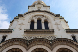 The facade of Alexander Nevsky Cathedral