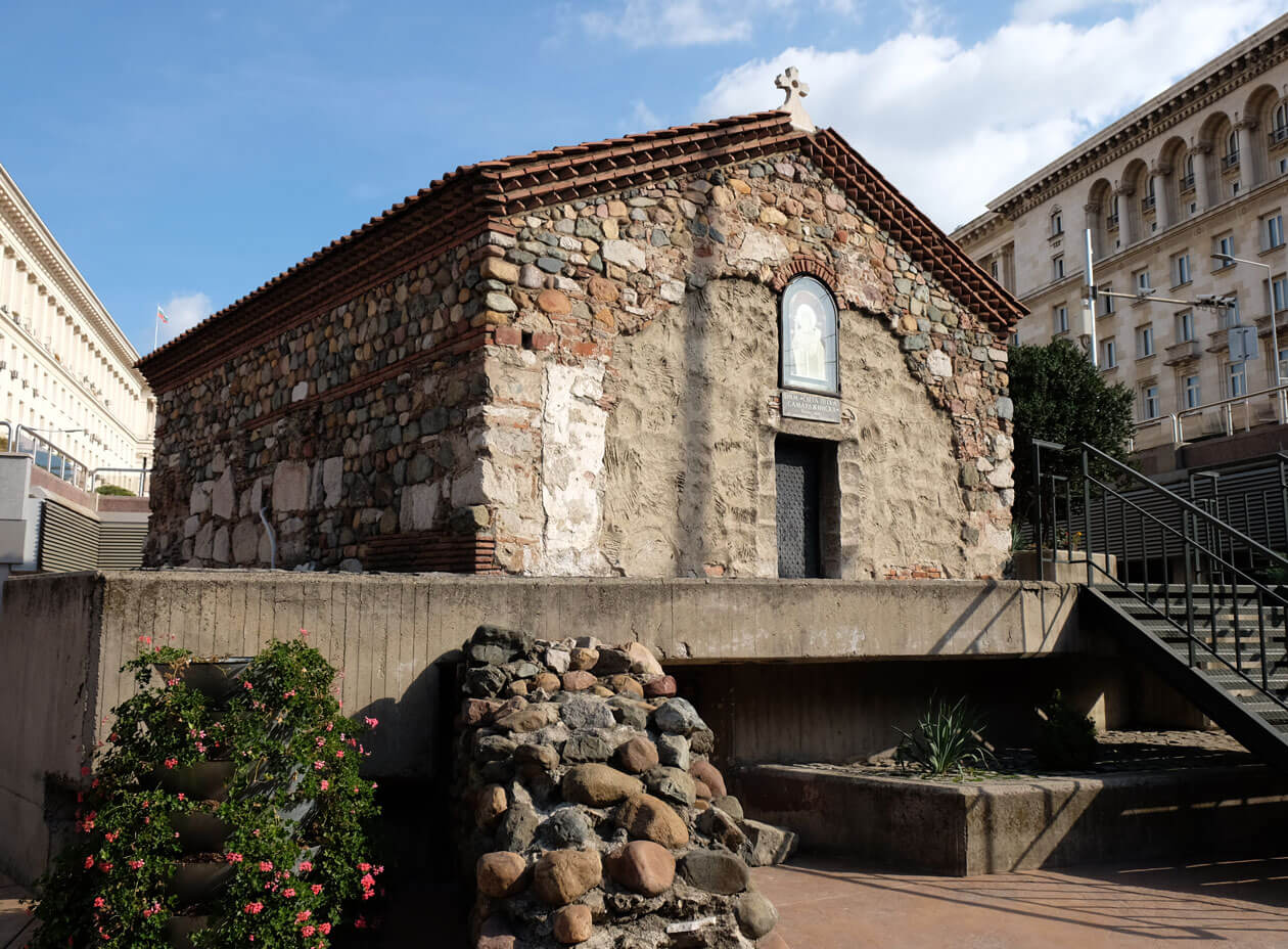 The tiny medieval church in the middle of Sofia