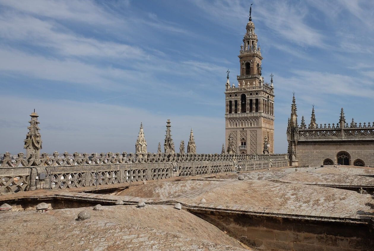 La Giralda from the roof of the cathedral