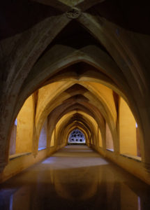 The baths, built underground so king Peter the Cruel's mistress could enjoy a cool bath in Seville's summer heat