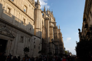 Seville Cathedral dwarfs all the buildings around it