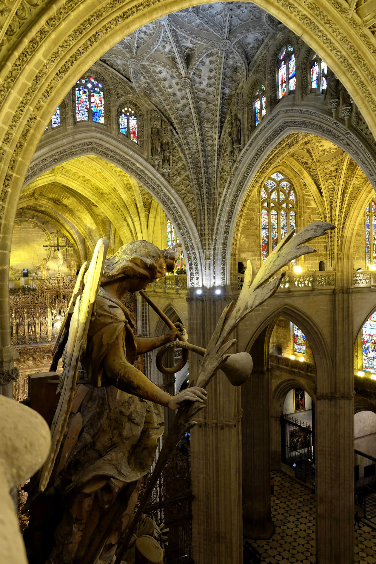 Up with the angels inside the cathedral