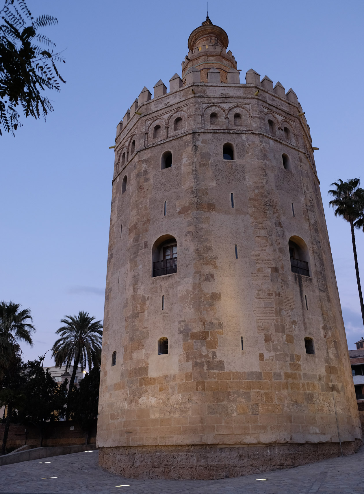 The Torre del Oro, on the banks of the Guadalquivir river