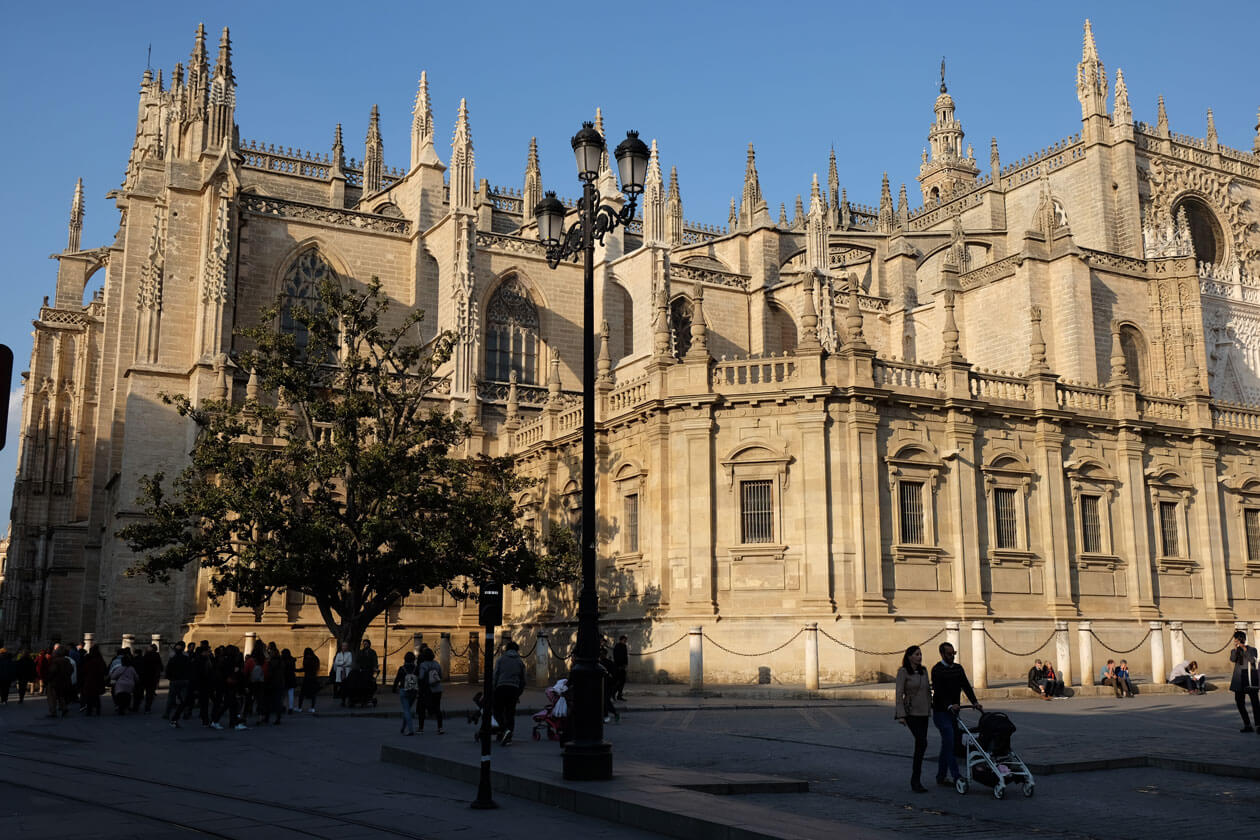 Seville Cathedral is the third-biggest church in the world