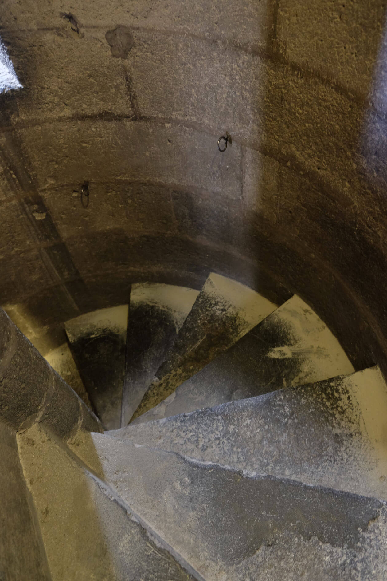 More narrow winding stairs on our way back down to the ground floor