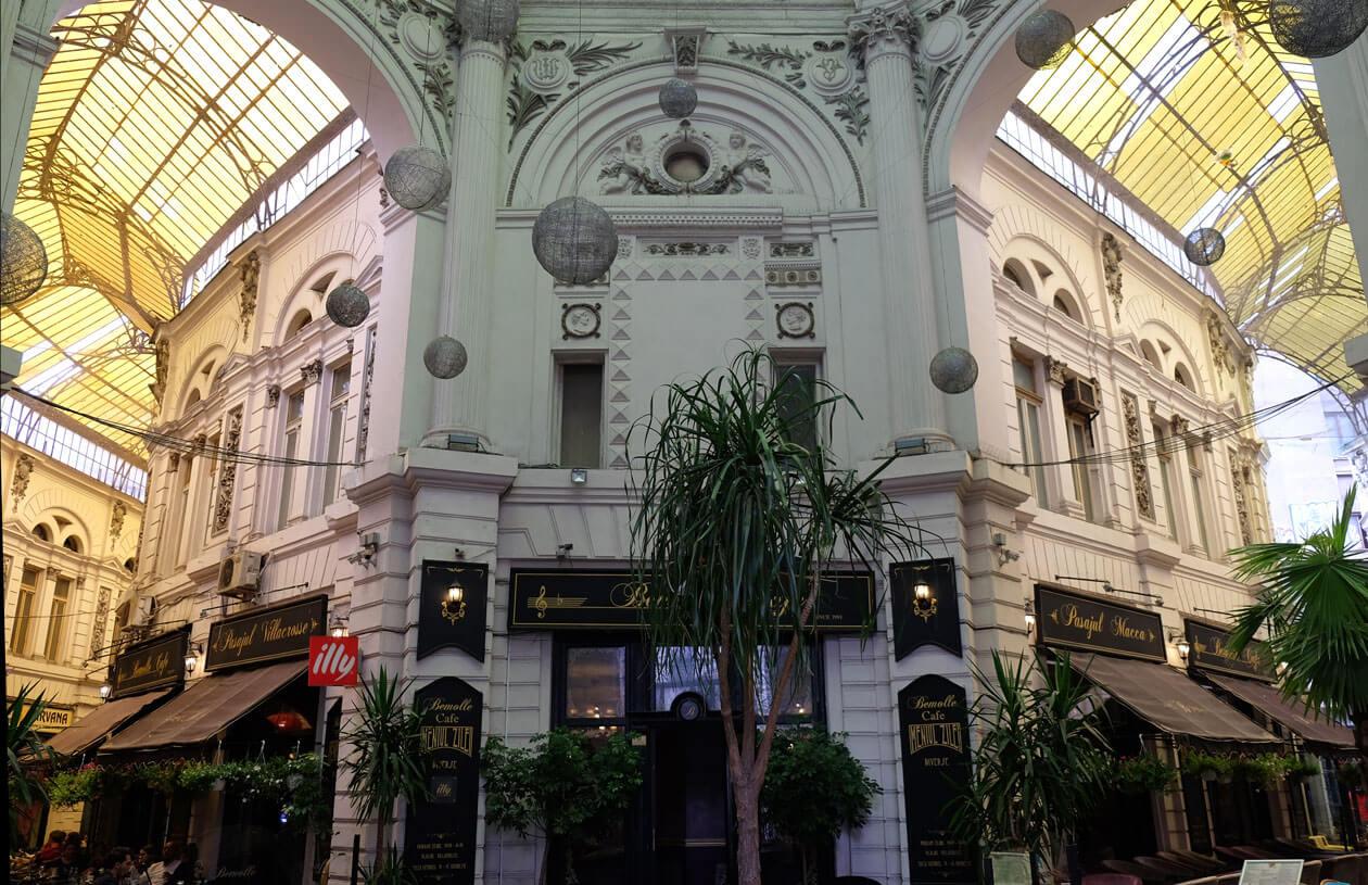 The beautiful Pasajul Macca-Vilacrosse arcade