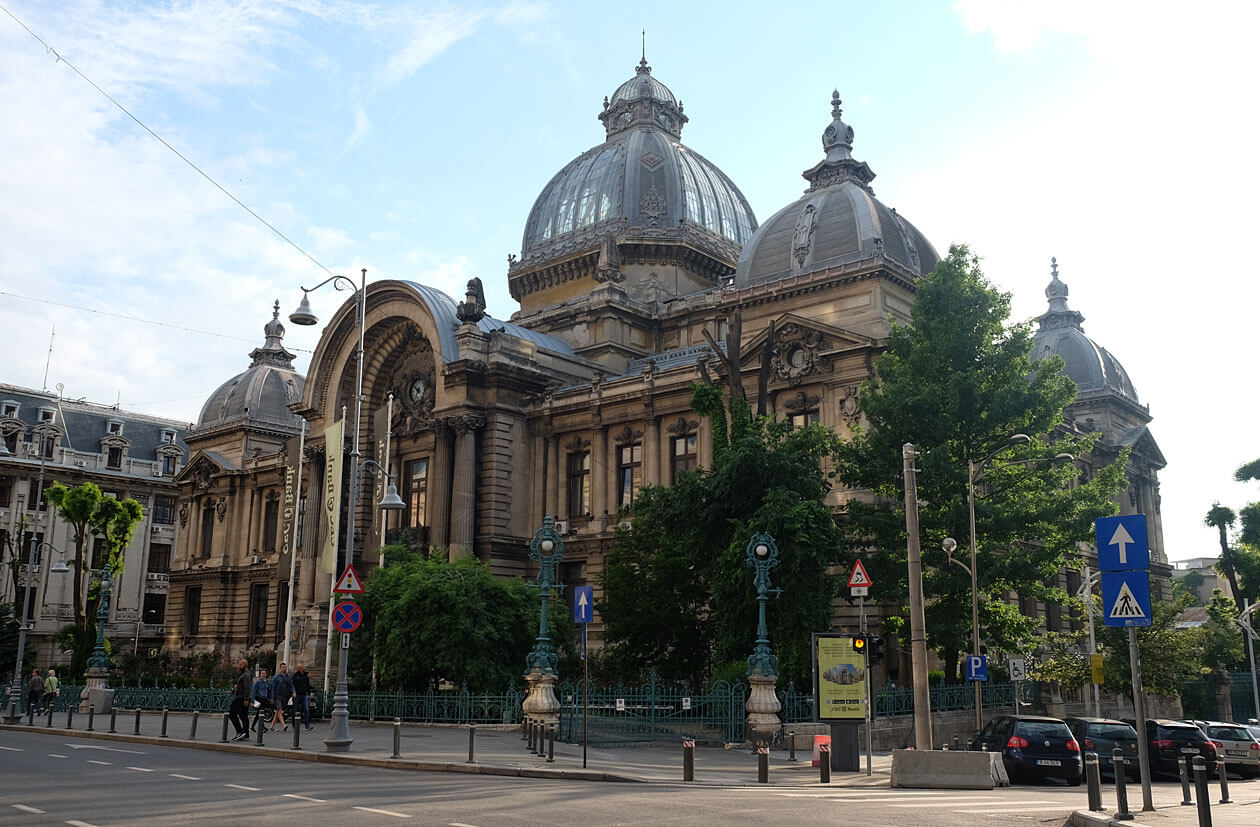 The gorgeous glass-domed headquarters of the Romanian Savings Bank, CEC