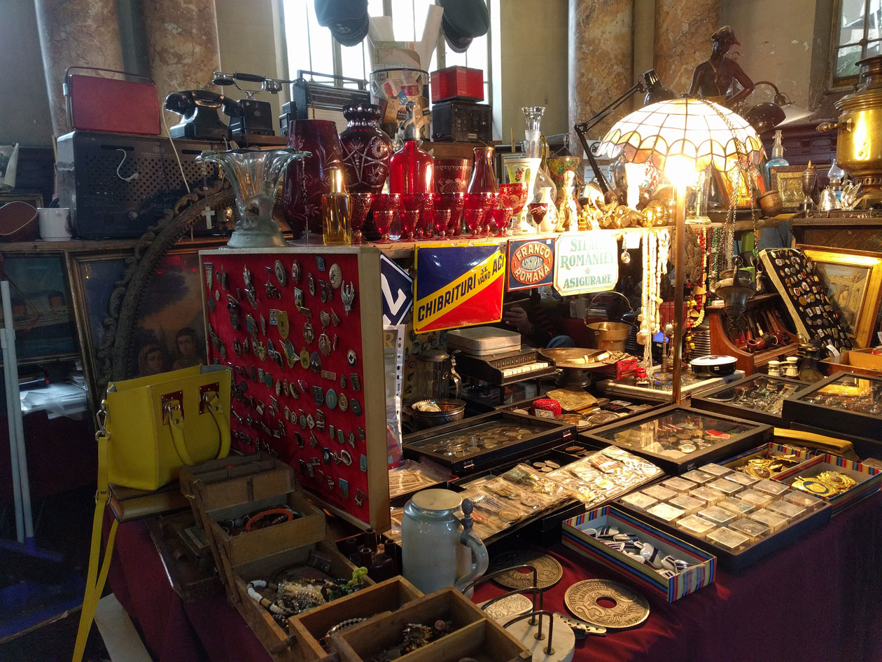 We came across this awesome flea market
