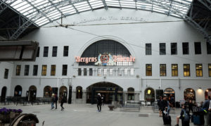 Leaving Bergen station at the start of our Norway in a Nutshell journey