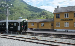 The railway station and museum at Flåm